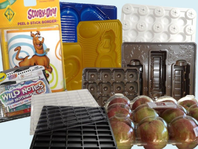 Array of Custom Thermoformed Packaging