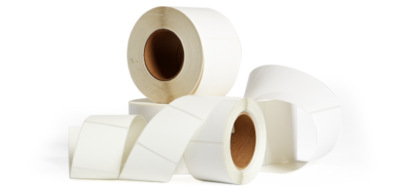 Rolls of direct thermal labels