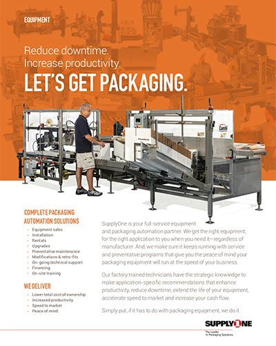 Packaging Equipment and Automation brochure cover